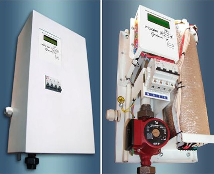 Electric boiler with integrated pump