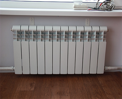 Connection of a heating radiator with a single pipe scheme