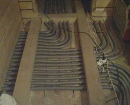 Beam layout in a wooden floor