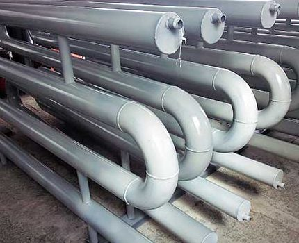 Registers made of galvanized pipes