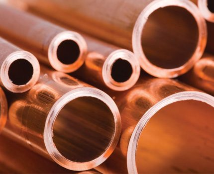 Copper pipes for steam heating