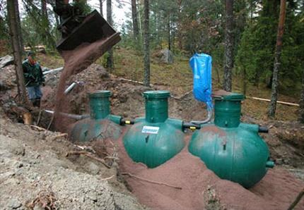Installation option septic tank Uponor Bio