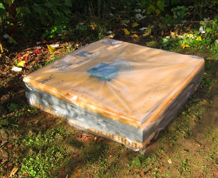 Box over the septic tank lid