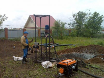 Sumps for water well drilling