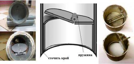 Flap valve for flap