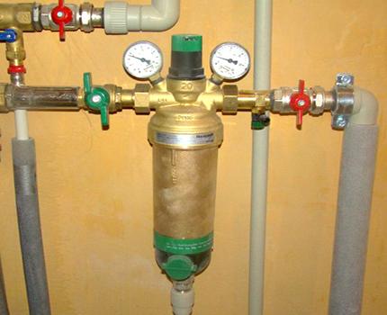 Installation d'un filtre autonettoyant