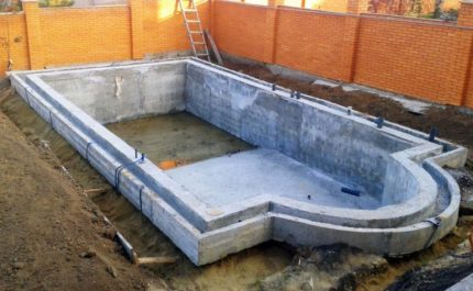 Waterproofing the pool from the outside