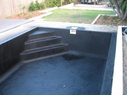 Waterproofing of the pool with coating compounds