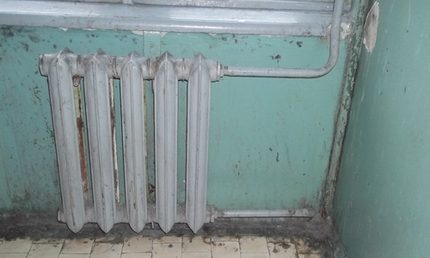 Old heating battery