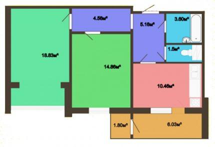 2-room apartment scheme