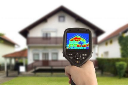Accounting for heat loss with a thermal imager