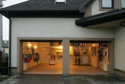 Warm heated garage
