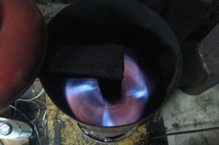 Mining burning
