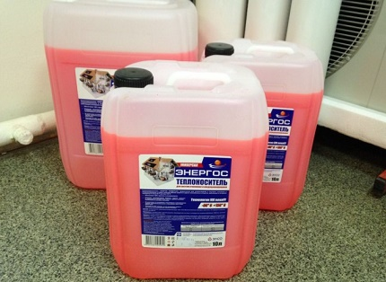 How to fill the heating system with antifreeze