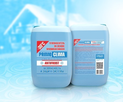 Non-freezing coolant antifreeze for filling heating systems