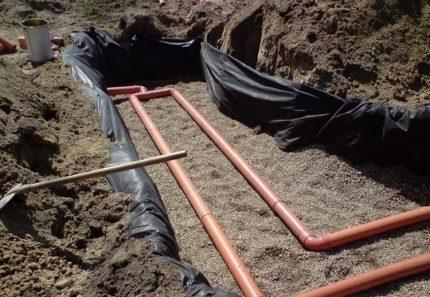 Septic tank filtration field
