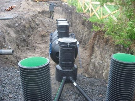 Options septic tank Uponor - Sako series
