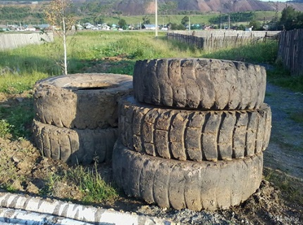 How to make a septic tank from old tires