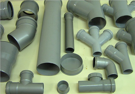 Shaped parts for sewer piping