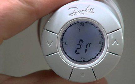 Elektroniskais akumulatora termostats