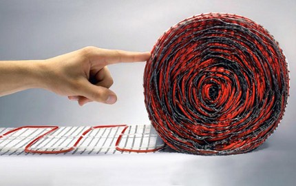 Floor-mounted electric mat