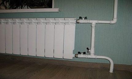 Manuālais radiatora apvedceļš