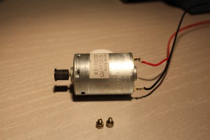 Micromotor for the pump