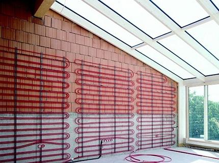 Water panel heating