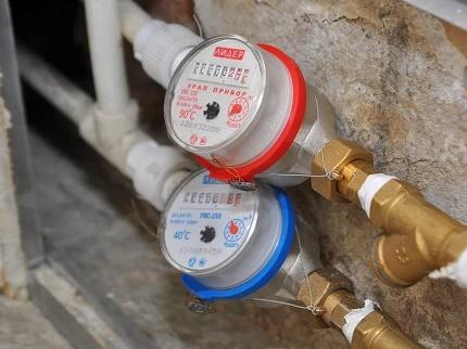 Règles de connexion des compteurs d'eau à l'alimentation en eau