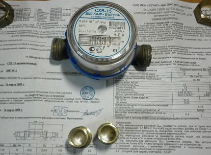 Household water meter