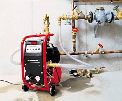 Apkures sistēmas hidrodinamiskās skalošanas metode
