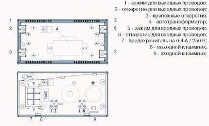 Scheme supplied by the manufacturer