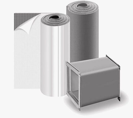 Roll insulation for ducts