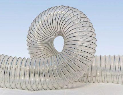 Reinforced polyurethane pipe