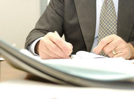 Documents for concluding a water supply agreement