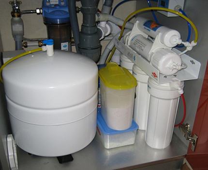 Reverse osmosis flushing