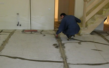 Base floor cleaning