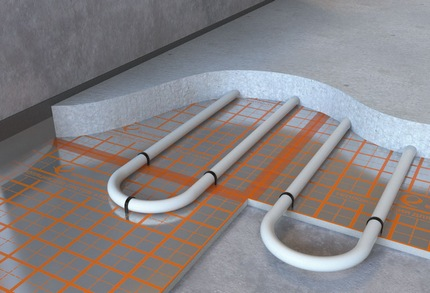 Insulation under the screed
