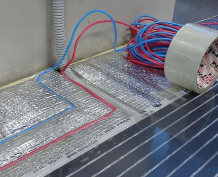 Repair of an infrared heat-insulated floor
