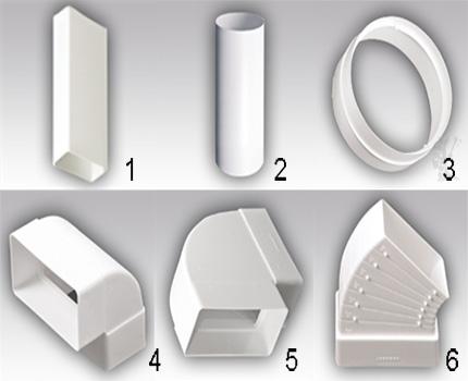 Veidoti elementi no plastmasas komplekta 1