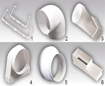 Veidoti elementi no plastmasas komplekta 2