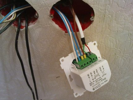 Connection of control unit and temperature sensor
