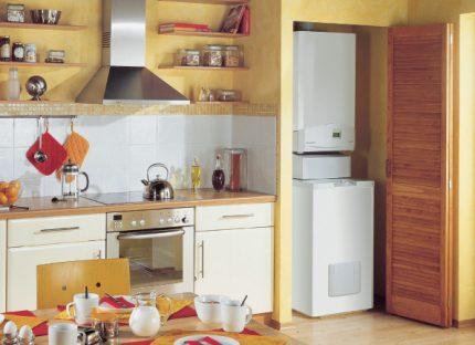 Boiler in the kitchen