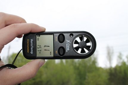 Typical anemometer