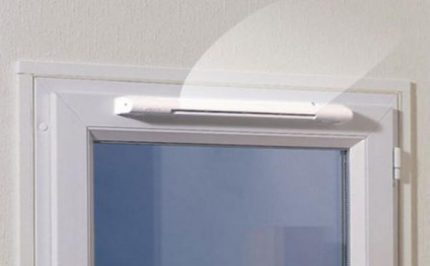 Supply unit above the window