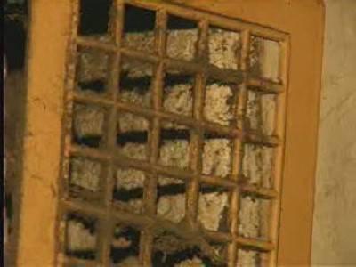 Dirty ventilation grill