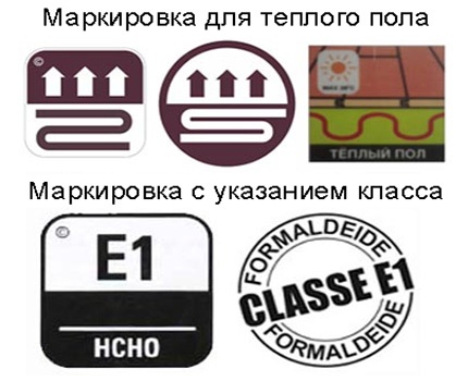 Laminate labeling examples