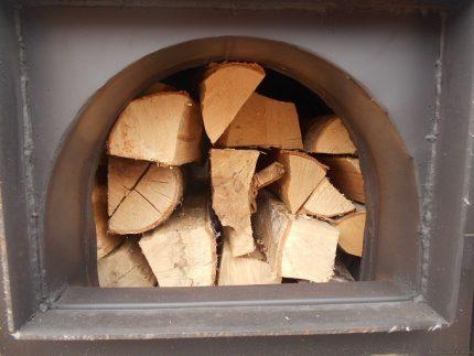 Bois de chauffage pour une chaudière à pyrolyse