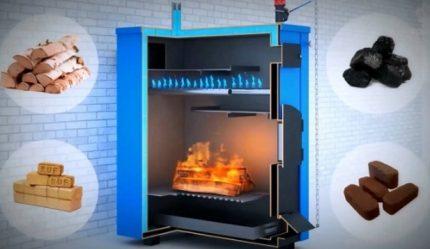 Combustible pour une chaudière à pyrolyse