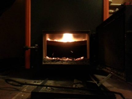 Flamme de chaudière de pyrolyse